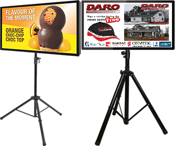 Advertising portable screens with WEMET Media
